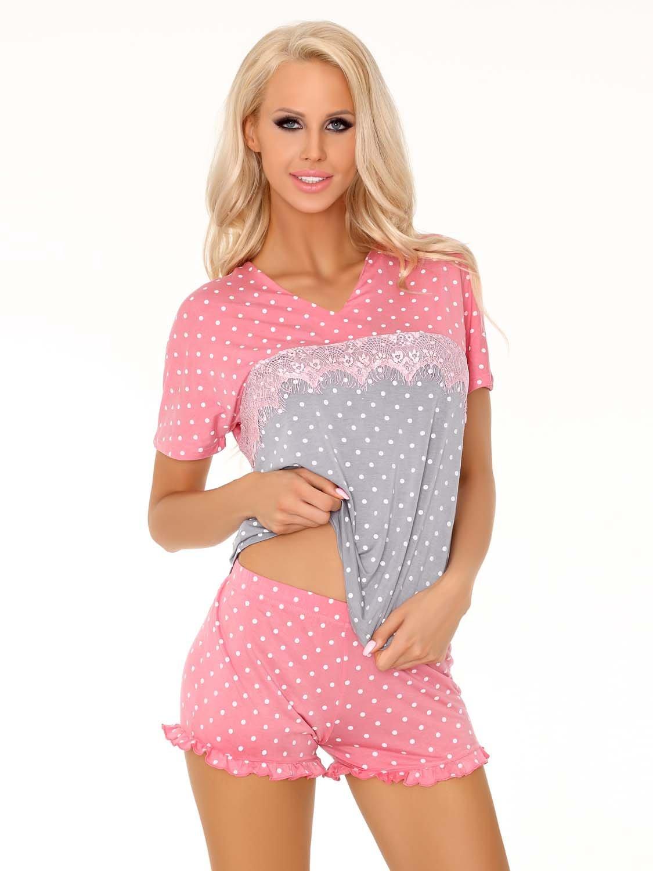 913d3ca27ce9ce Glennis piżama różowo-szara - Sklep eSensa.pl